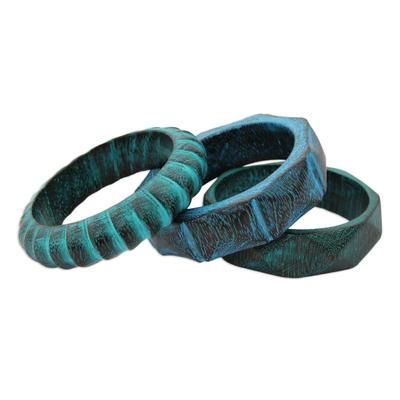 Fair Trade Mango Wood Bangle Bracelets (Set of 3)
