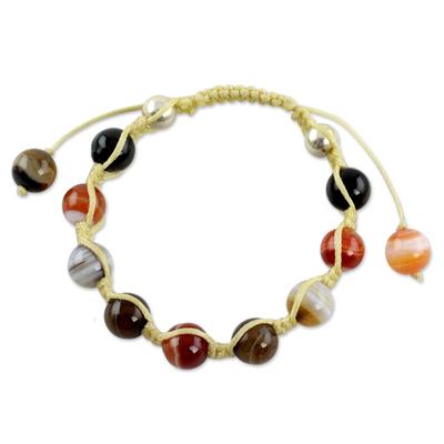 Handcrafted Agate Shamballa Bracelet