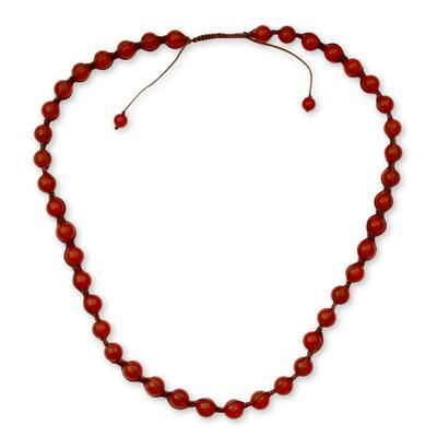 Fair Trade Cotton Beaded Agate Necklace
