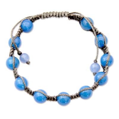 Chalcedony Shamballa Bracelet