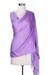 Silk and wool shawl, 'Lavender Orchid' - Silk Wool Shawl Wrap from India (image 2d) thumbail