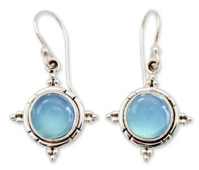 Artisan Jewelry Sterling Silver and Chalcedony Earrings