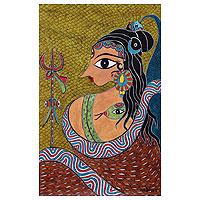 'Ganga Dhar Shiva' (2011) - Original Hindu Painting