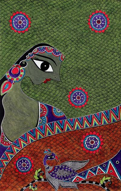 Unicef Uk Market Original Hindu Fine Art From India Radha