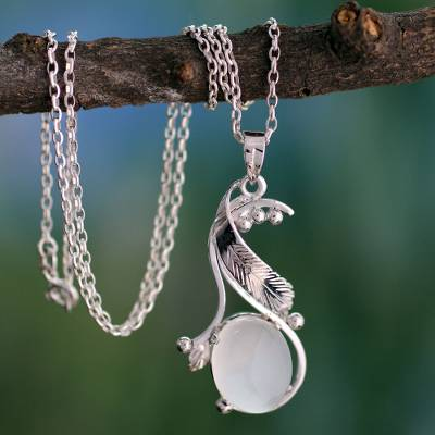 Moonstone pendant necklace, 'Moonlight Magic' - Moonstone pendant necklace