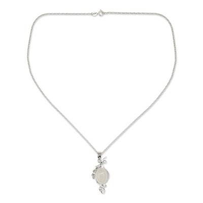 Moonstone pendant necklace, 'Luminous Illusion' - Moonstone pendant necklace