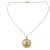 Gold vermeil pendant necklace, 'Jaipur Sun' - Fair Trade Vermeil and Chalcedony Necklace from India thumbail