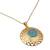 Gold vermeil pendant necklace, 'Jaipur Sun' - Fair Trade Vermeil and Chalcedony Necklace from India (image 2b) thumbail