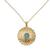 Gold vermeil pendant necklace, 'Jaipur Sun' - Fair Trade Vermeil and Chalcedony Necklace from India (image 2c) thumbail