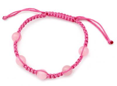 Rose Quartz Shamballa Bracelet from India