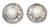Cultured pearl button earrings, 'Royal Reminiscence' - Pearl Earrings in Sterling Silver Indian jewellery Collectio (image 2a) thumbail