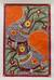 Madhubani painting, 'Birds in Harmony' - Madhubani painting thumbail