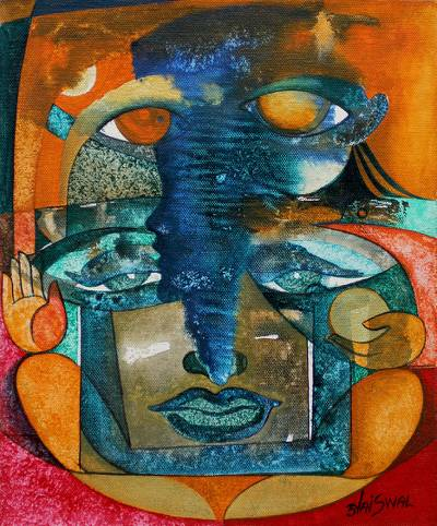 'Ganesh and Kartikeya' - Fine Art Hindu Painting