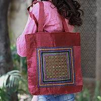 Embroidered shoulder bag, 'Kutch Celebration' - Embroidered shoulder bag