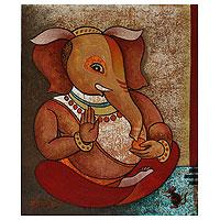 'Auspicious Ganapati II' - Spiritual Ganesha Painting