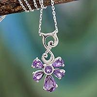 Amethyst pendant necklace, 'Lilac Blessings' - Amethyst pendant necklace