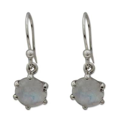 Sterling Silver and Moonstone Dangle Earrings
