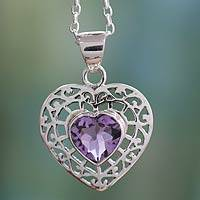 Featured review for Amethyst heart necklace, Mughal Romance