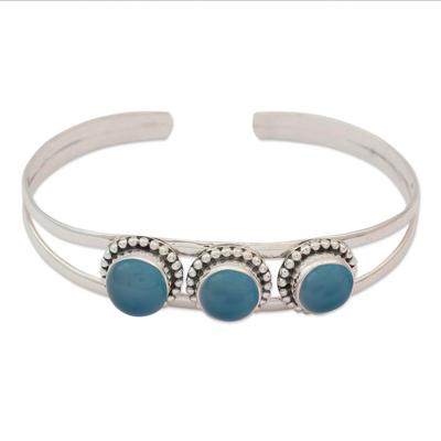 Chalcedony cuff bracelet