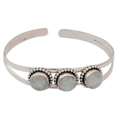 Rainbow Moonstone cuff bracelet