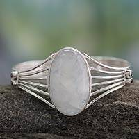 Featured review for Rainbow moonstone cuff bracelet, Rainbow Mist