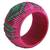 Handcrafted rattan bangle bracelet, 'Fuchsia Forest' - Handmade Modern Natural Fiber Bangle Bracelet (image 2b) thumbail