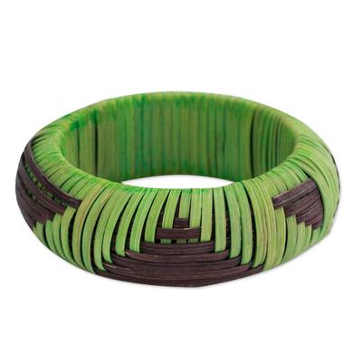 Handmade Modern Natural Fiber Bangle Bracelet