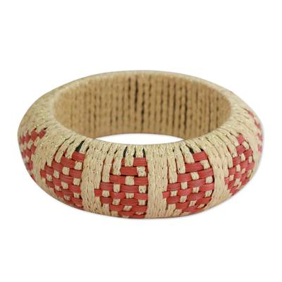 Handmade Rattan Bangle Bracelet