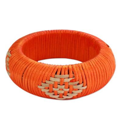 Hand Crafted Natural Fiber Bangle Bracelet