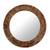 Glass mosaic wall mirror, 'Round Mumbai Maze' - Mirror thumbail