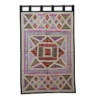 Cotton wall hanging, 'Gujarat Fantasy' - Cotton wall hanging