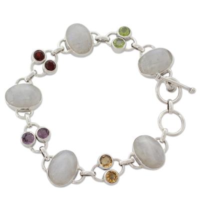 Moonstone link bracelet