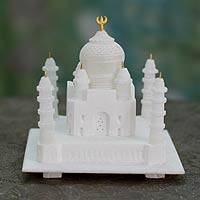 Marble sculpture, 'Taj Mahal' (large) - Marble sculpture (Large)