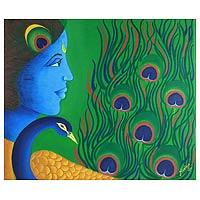 'Krishna Kanhaiya' - Expressionist Acrylic Painting