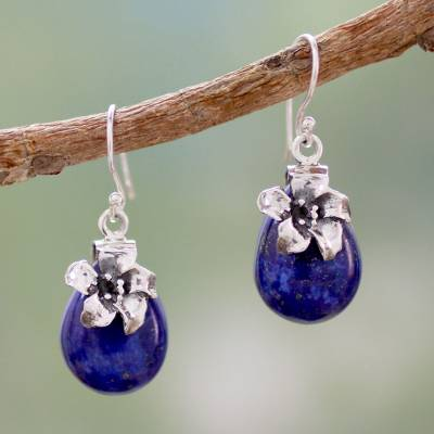 Lapis lazuli dangle earrings, Lovely Lily