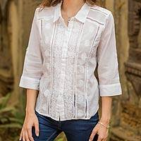 Cotton blouse, 'Morning Glory'
