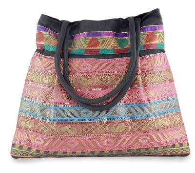 Artisan Crafted Patterned Shoulder Bag from India
