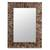 Glass mosaic wall mirror, 'Golden Fireflies' - Wall mirror (image 2a) thumbail