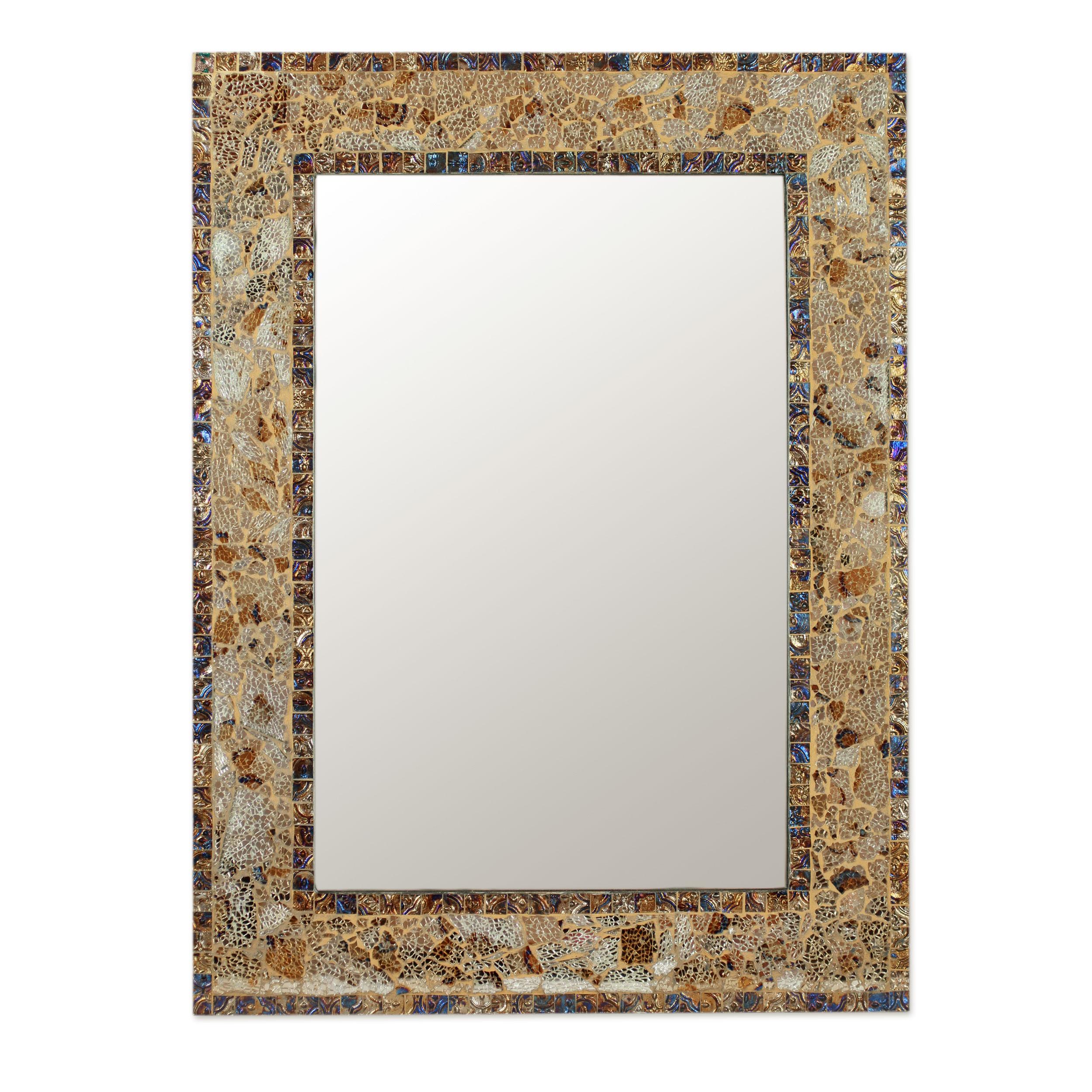 This italian circular wooden wall mirror is no longer available - Mosaic Glass Mirror Persian Mosaic Handmade Mosaic Glass Wall Mirror From India