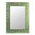 Glass mosaic wall mirror, 'Sumptuous Summer Light' - Handmade Modern Glass Mirror from India 24 x 18 Inches thumbail