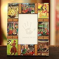 Decoupage photo frame, 'Mughal Memories' (4x6) - Decoupage photo frame (4x6)