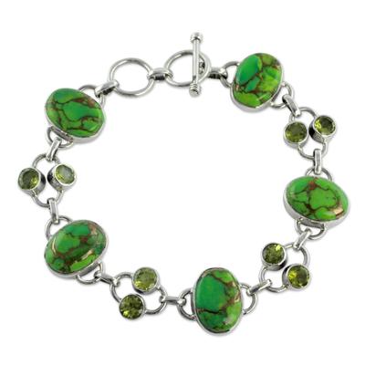 Peridot link bracelet