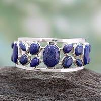 Featured review for Lapis lazuli cuff bracelet, Summer Sea