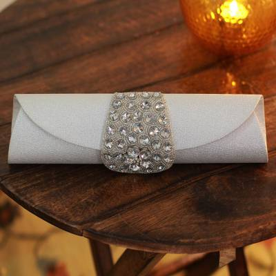 Beaded clutch evening bag, Twinkling Starlight