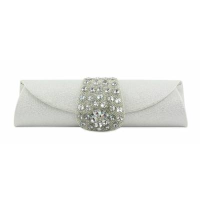Beaded clutch evening bag, 'Twinkling Starlight' - Hand Beaded Evening Bag