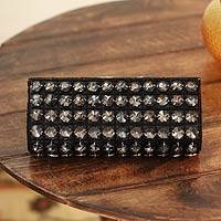 Beaded clutch evening bag, 'Dazzle Me' - Beaded clutch evening bag