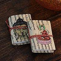 Featured review for Handmade paper journals, Serenity (pair)