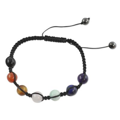 India Multi Gemstone Chakra Bracelet Novica