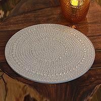 Bejeweled vanity tray,