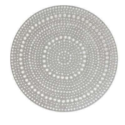 Bejeweled vanity tray, 'Silver Glitz' - Bejeweled vanity tray